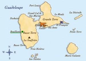Situé à Bouillante en Guadeloupe